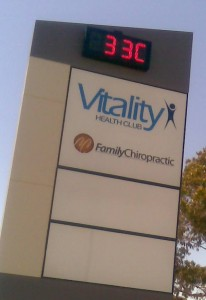 Outdoor Digital Clock with Temp