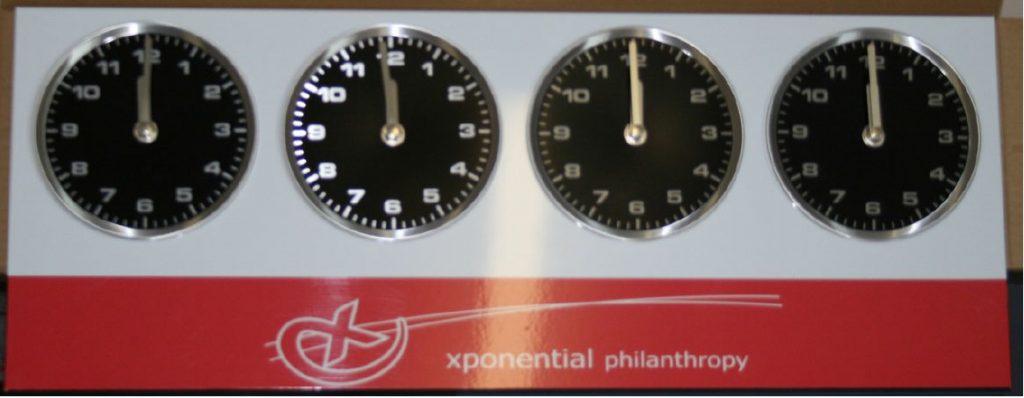 Analogue 4 zone clocks