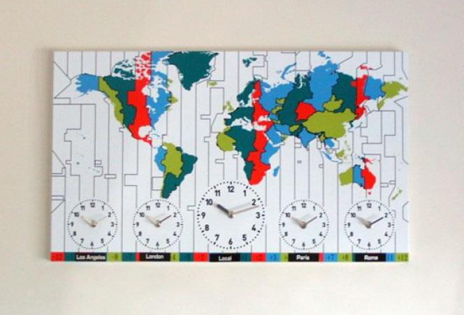 Map timezone clock